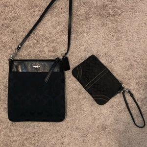 COACH Crossbody purse & wristlet